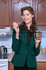 Woman eating from a can