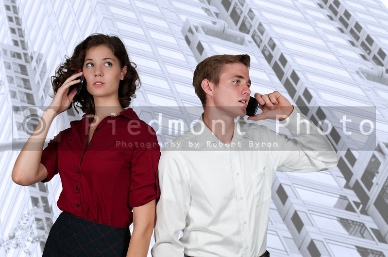 Business People on the Phone