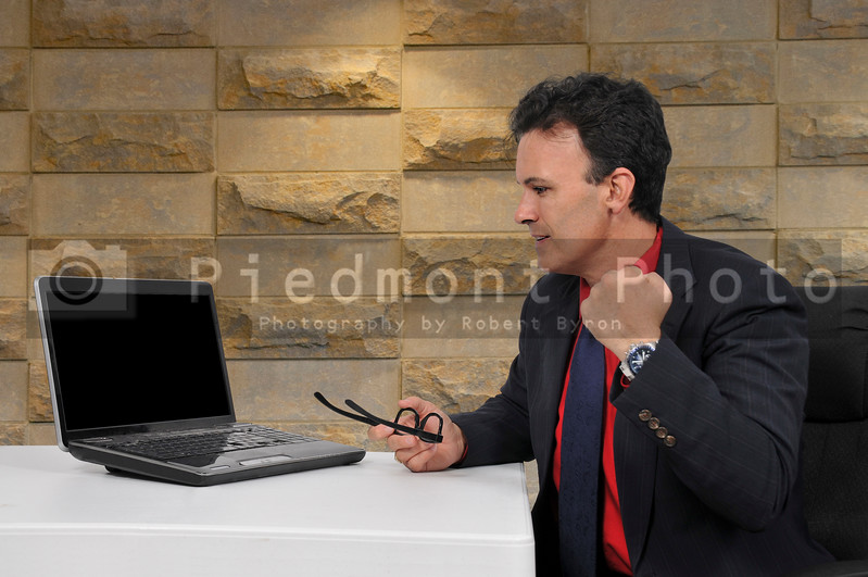 Salesman at a computer