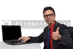 Salesman at a computer