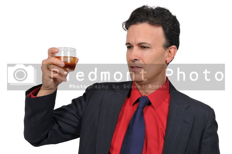 Business man with a cocktail