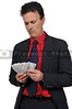 Man Holding 100 Dollar Bills