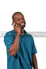 Black Man on a Cell Phone