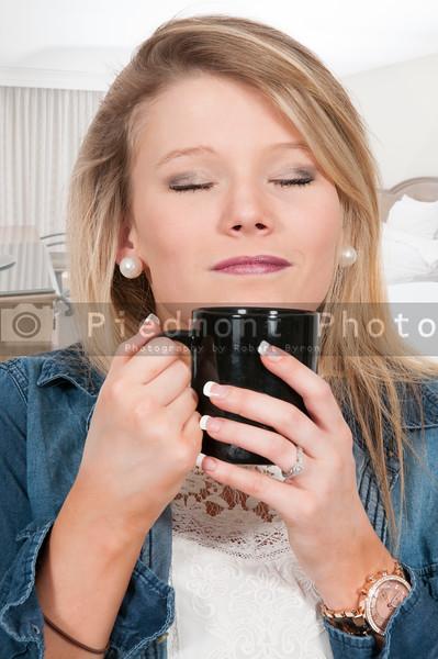 Woman Drinking Coffee