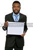 Man Holding Blank Sign