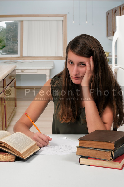 Woman doing homework