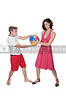Couple with Beach Ball