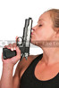 Woman Kissing Gun