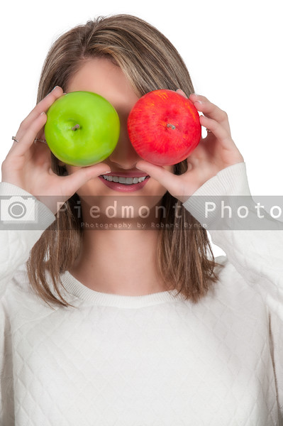 Woman holding apples