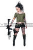 Tattooed Woman with Assault Rifle and Pistol