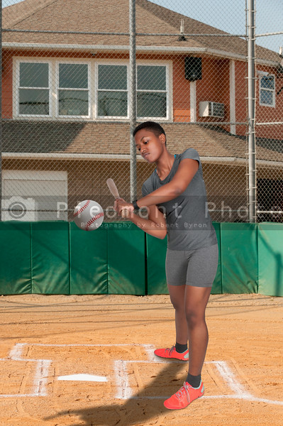 Black Woman Baseball Player