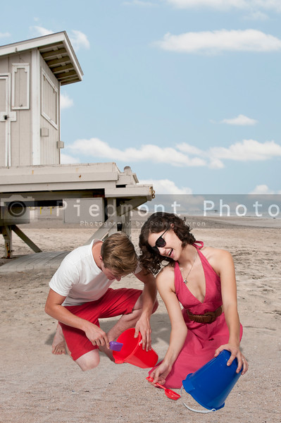 Young Couple with Sand Pails