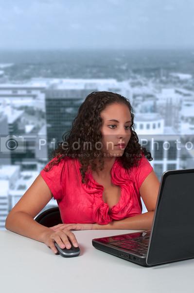 Woman Using Laptop