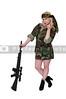 Woman Soldier Flirting