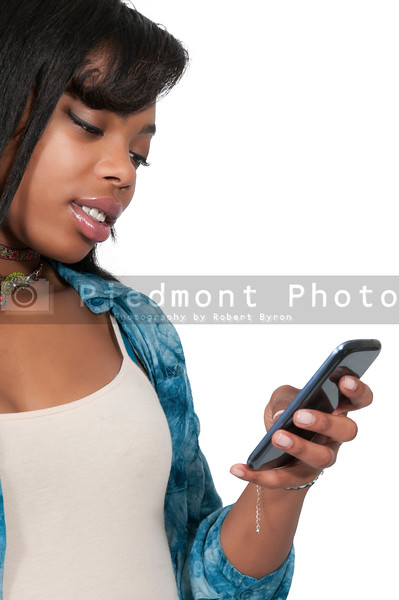 Beautiful Woman Texting