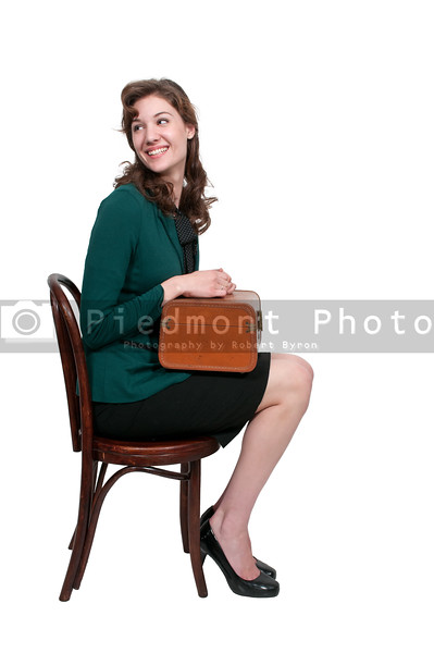 Beautiful Woman with Suitcase