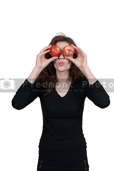 Woman andan Apple