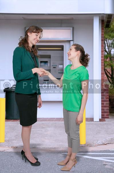 Business women handshake
