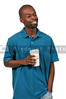 Black Man Drinking Coffee