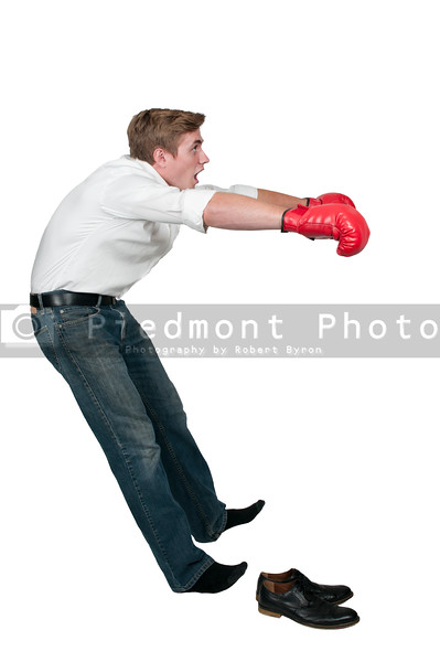 Knocked out boxer