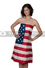 Woman Wrapped in a Flag