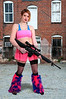 Woman Rave Rifle Girl