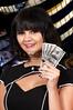 Woman Holding 100 Dollar Bills