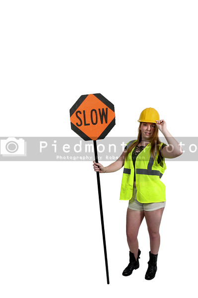 Workman with Stop Sign