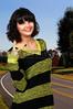 Woman flahing a gang sign