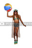 Woman Holding Beachball