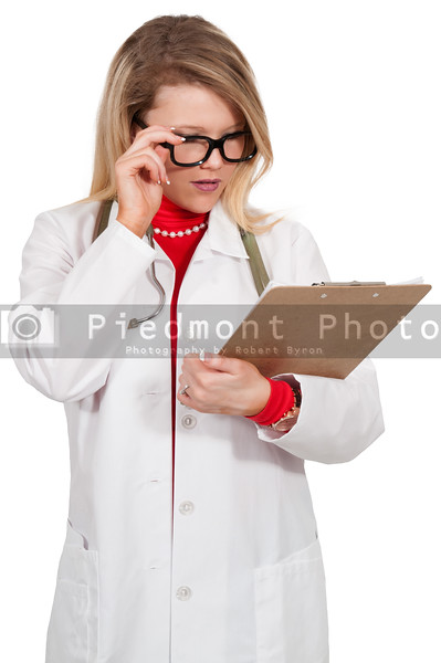 Woman Doctor with patient records