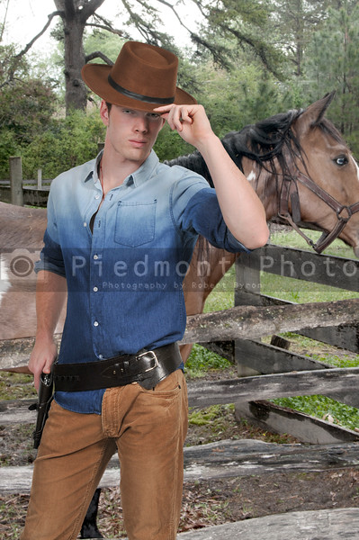 Handsome cowboy man