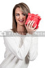 Beautiful Woman Shaking Gift