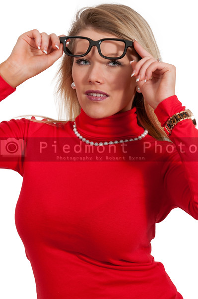 Woman with glasses