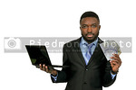 Man with computer and cash