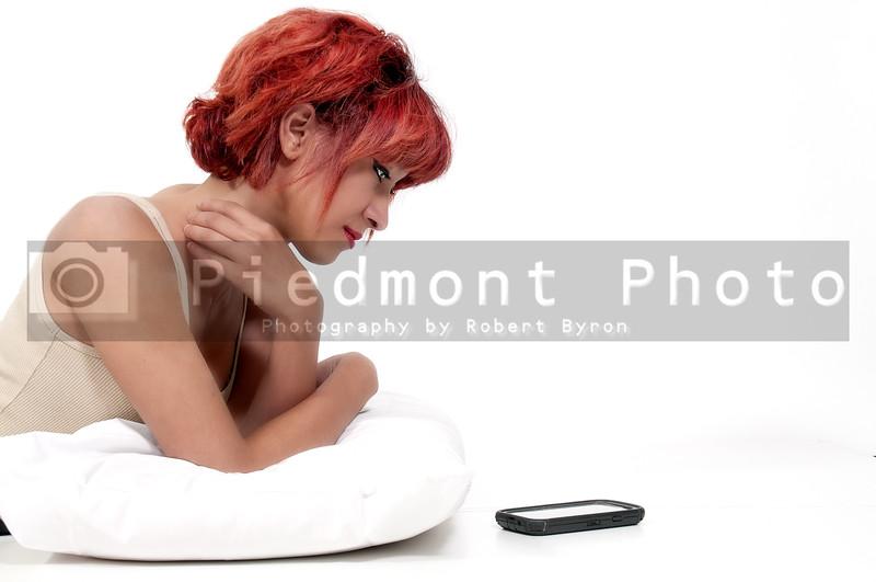 Woman Waiting on Phone
