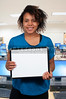 Teacher Holding a Blank Sign