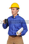 Construction worker with coffee