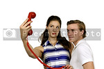 Woman and man taking a selfie
