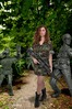 Woman Soldier and Toy Army Men