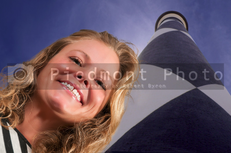 Woman at a Lighthouse