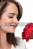 Woman Holding Rose