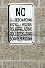 No doing stuff sign