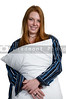 Woman Hugging Pillow