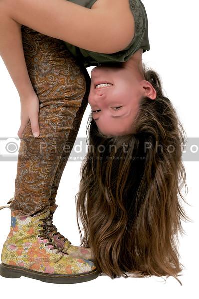 Woman bent over