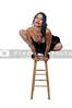 Woman Balancing on a Stool
