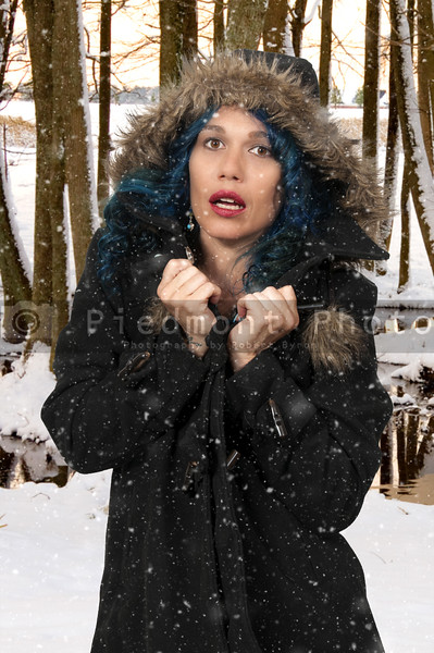 Woman in Winter Coat