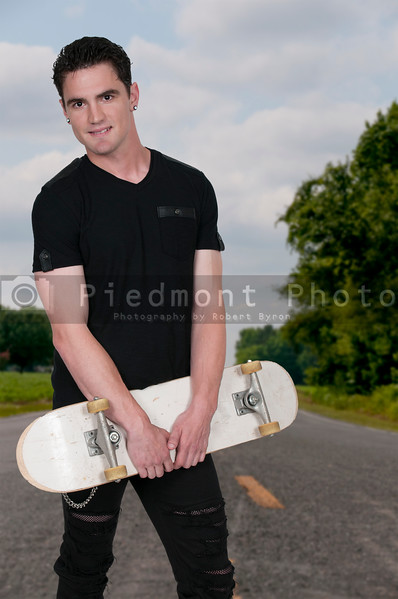 Man skateboarder