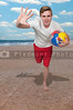 Man Holding Beach Ball