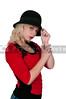 Woman Wearing Cloche Hat